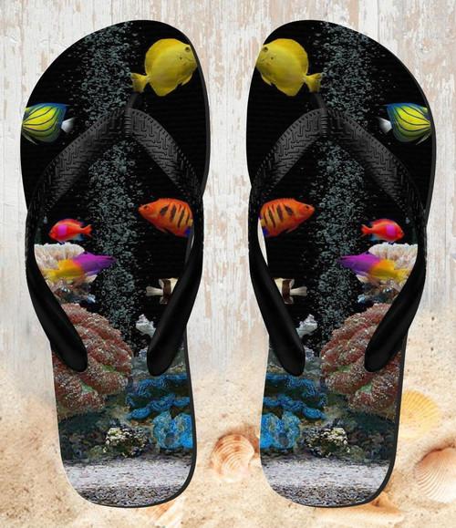 FA0017 Aquarium Beach Slippers Sandals Flip Flops Unisex