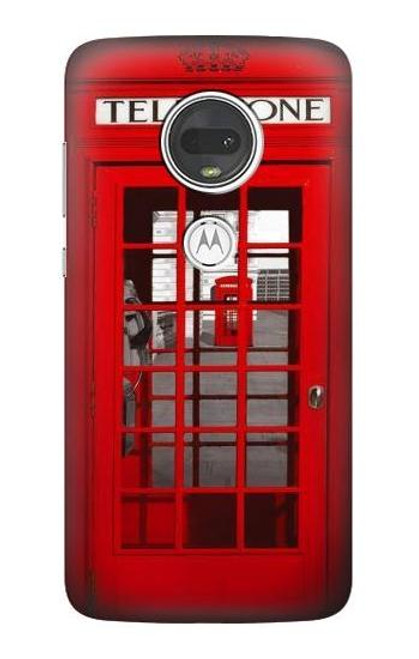 S0058 British Red Telephone Box Case For Motorola Moto G7, Moto G7 Plus