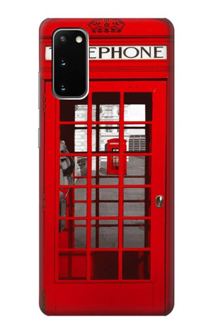 S0058 British Red Telephone Box Case For Samsung Galaxy S20