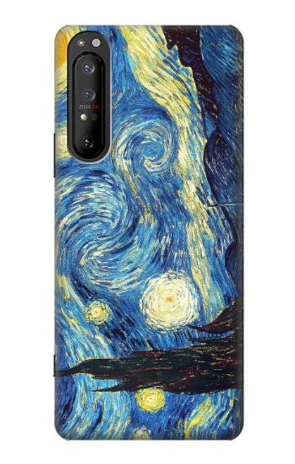 S0213 Van Gogh Starry Nights Case For Sony Xperia 1 II