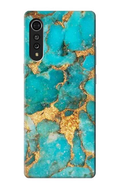 S2906 Aqua Turquoise Stone Case For LG Velvet