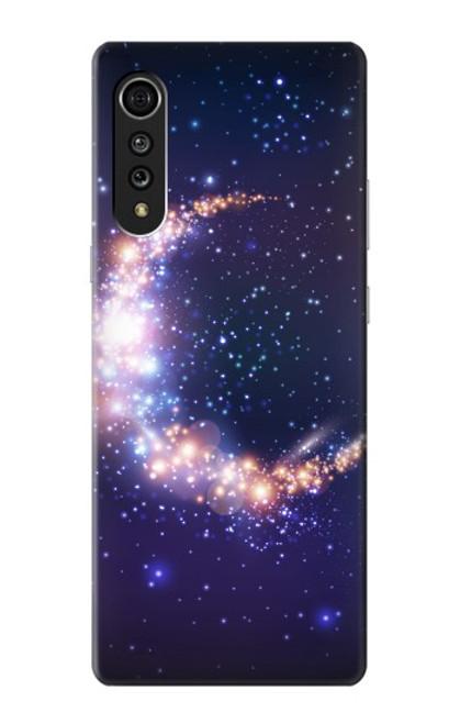S3324 Crescent Moon Galaxy Case For LG Velvet