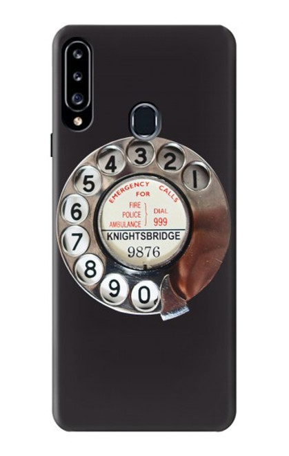 S0059 Retro Rotary Phone Dial On Case For Samsung Galaxy A20s