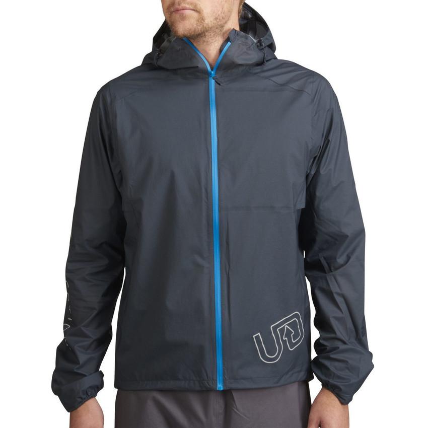 Man wearing gray Men's Ultra Jacket V2, front view