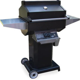 Phoenix Grills Black Gas Grill On Black Pedestal Cart - PFMGBOC