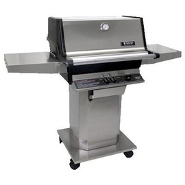 MHP AMC High profile stainless steel grill top mounted on stainless steel base - AMCTSS