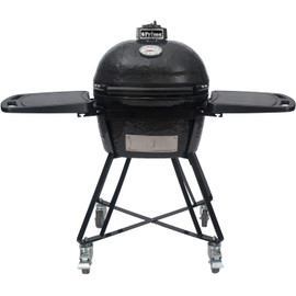 Primo Oval Junior 200 All-In-One Kamado Ceramic Grill on Cart With Side Shelves - 7400