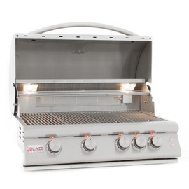 Blaze LTE 32-Inch 4-Burner Built-In Gas Grill With Rear Infrared Burner & Built-in Lighting - BLZ-4LTE2