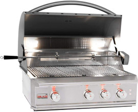 Blaze BLZ-3PRO Professional 34-Inch 3-Burner Built-In Gas Grill With Rear Infrared Burner - Stainless Steel
