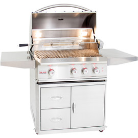 Blaze Professional 34 Inch 3-Burner Gas Grill With Rear Infrared Burner on Cart - BLZ-3PRO Stainless Steel