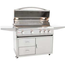 Blaze Professional 44 Inch 4-Burner Gas Grill With Rear Infrared Burner on Cart- BLZ-4PRO Stainless Steel