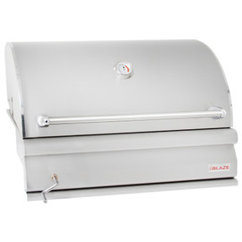 Blaze 32 Inch Built-In Stainless Steel Charcoal Grill With Adjustable Charcoal Tray - BLZ-4-CHAR