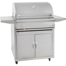 Blaze 32 Inch Stainless Steel Charcoal Grill on Freestanding Cart - BLZ-4-CHAR