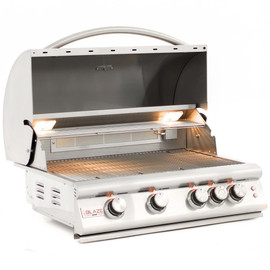 Blaze LTE Marine Grade 32 Inch 4-Burner Built-In Gas Grill With Rear Infrared Burner & Grill Lights - BLZ-4LTE2MG