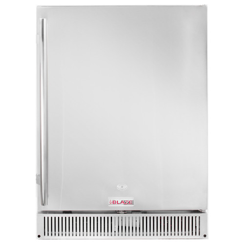 "BLAZE OUTDOOR RATED STAINLESS 24"" REFRIGERATOR 5.2 CU. FT."