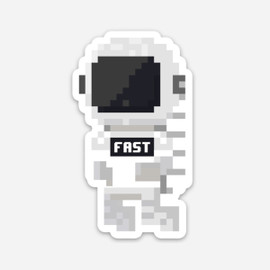 Fastronaut Sticker