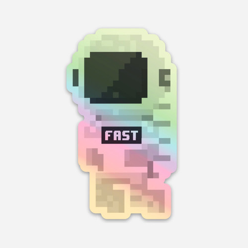 Holographic Fastronaut Sticker
