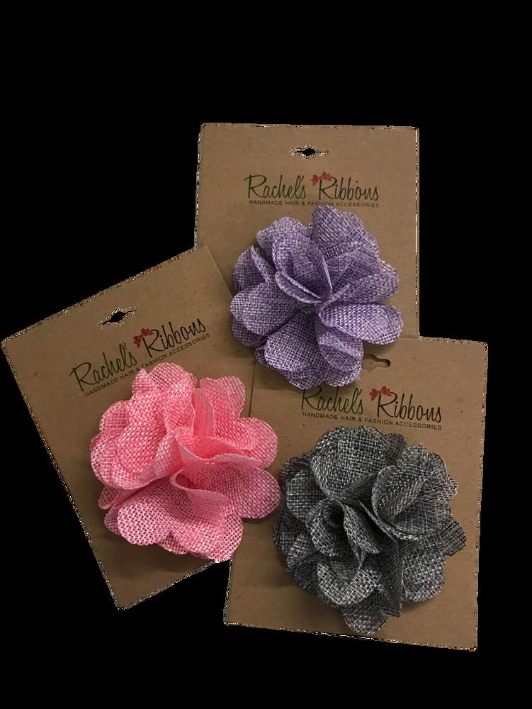 Soft Burlap Flower Clip