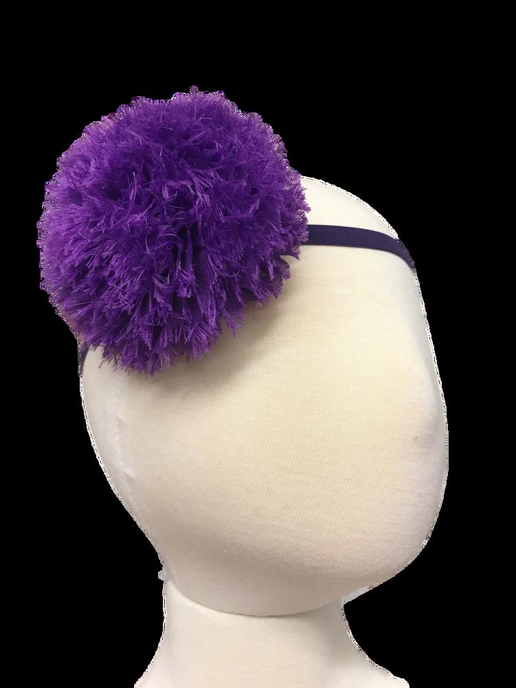 Skinny Stretch Headband w/ Giant Shabby
