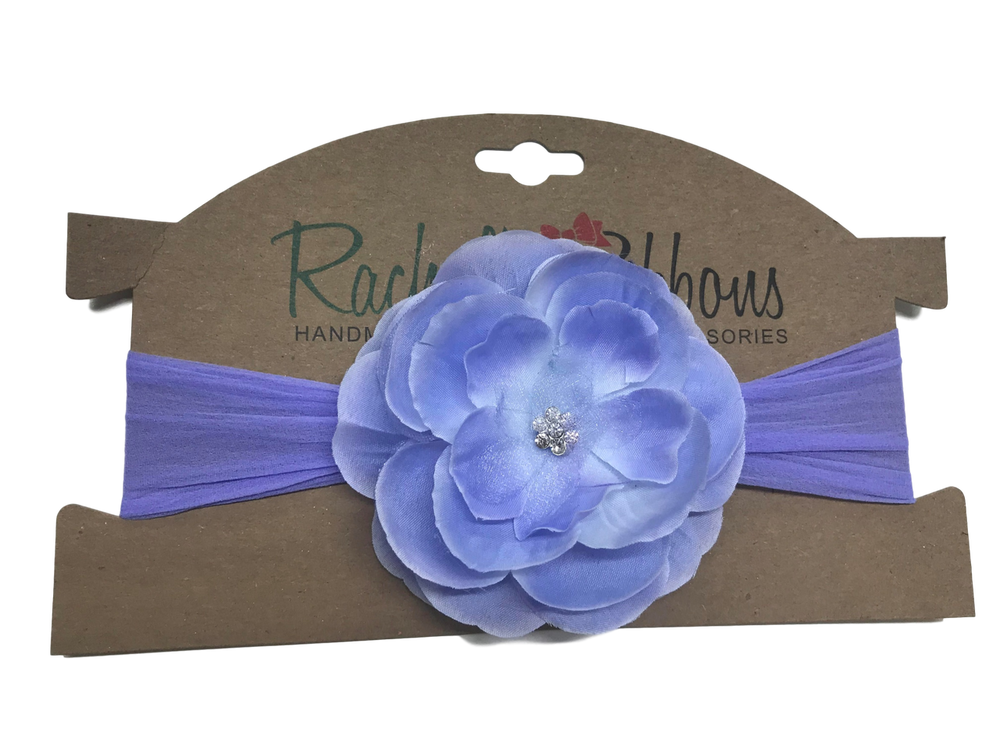 Sheer headband with Precious Petal Flower on Card