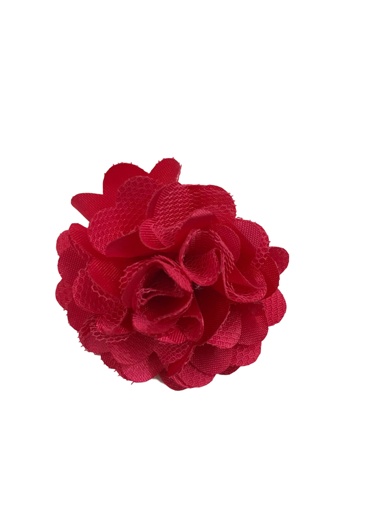 Satin Mesh Rose Clip