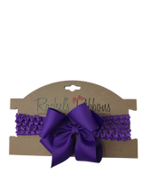Crochet Headband with Bow -  Carded