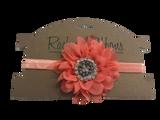Satin Stretch Headband w/ Jewel Peony