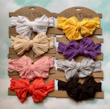 Ruffled Bow Headband