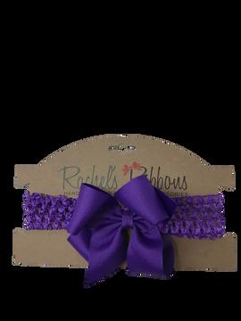 Crochet Headband with Bow -  Carded