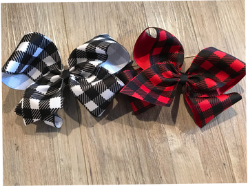 Buffalo Plaid: White/Black, Red/Black