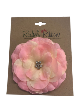 Precious Petal Flower Clip on Large Bow Card
