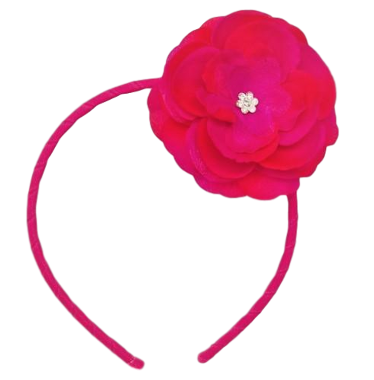 Skinny Headband with Precious Petal Flower