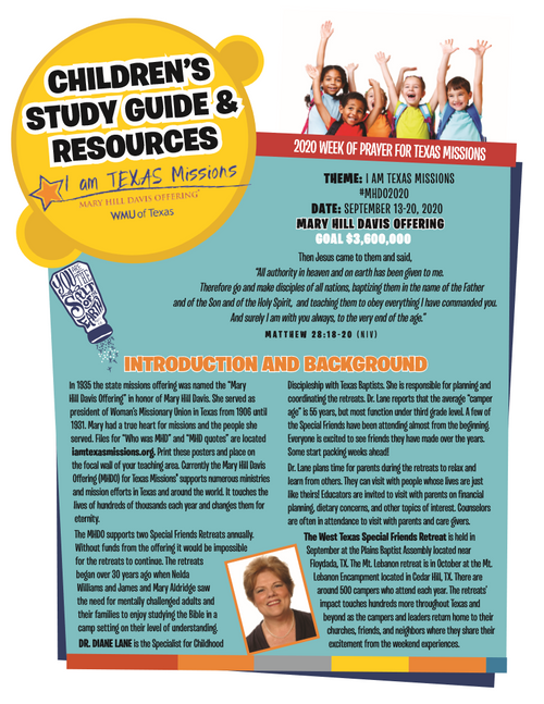 MHD - English Children's Study Guide & Resources (pg1)