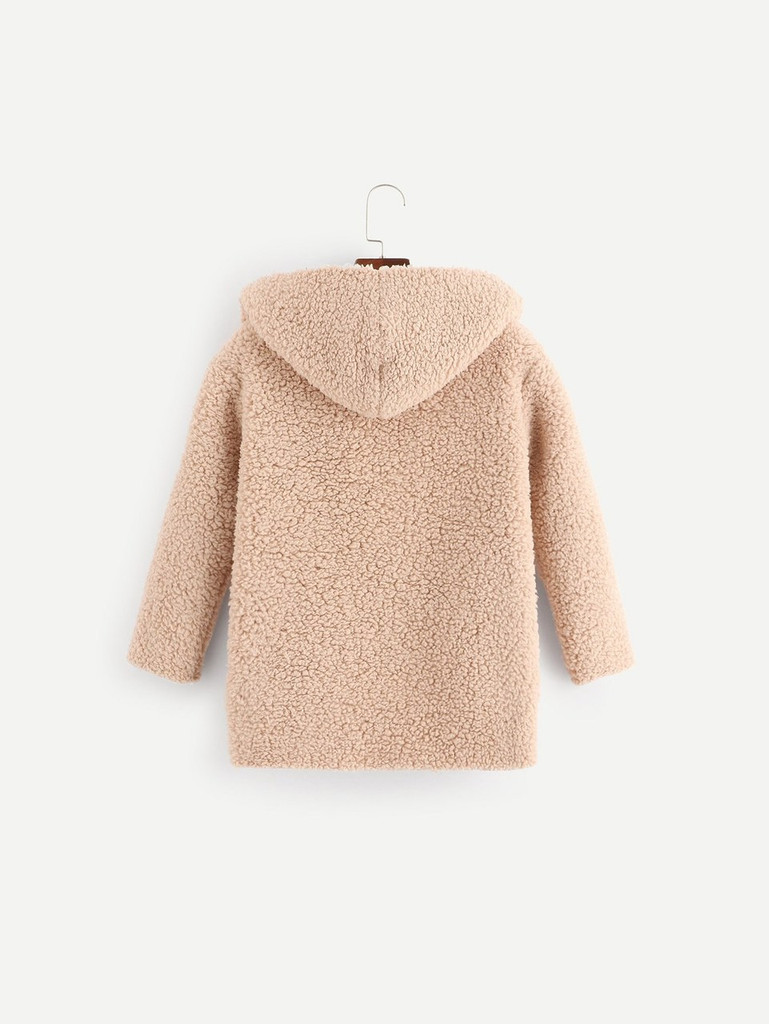 Girls Hooded Teddy Coat