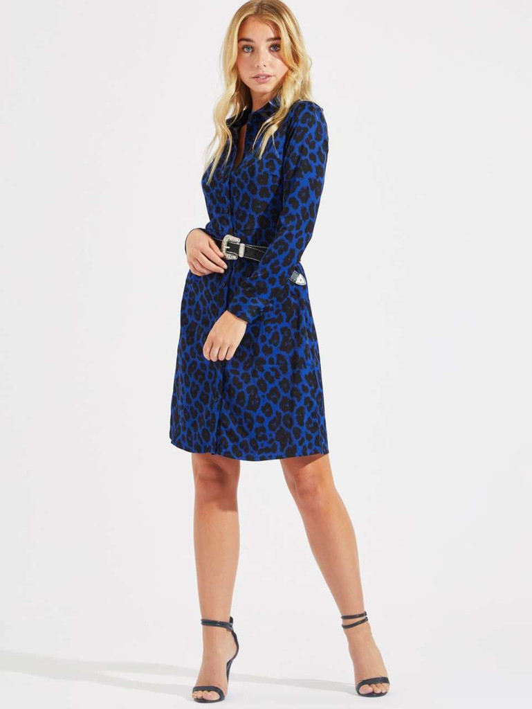 149be312e4f Leopard Print Shirt Dress Click here to enlarge