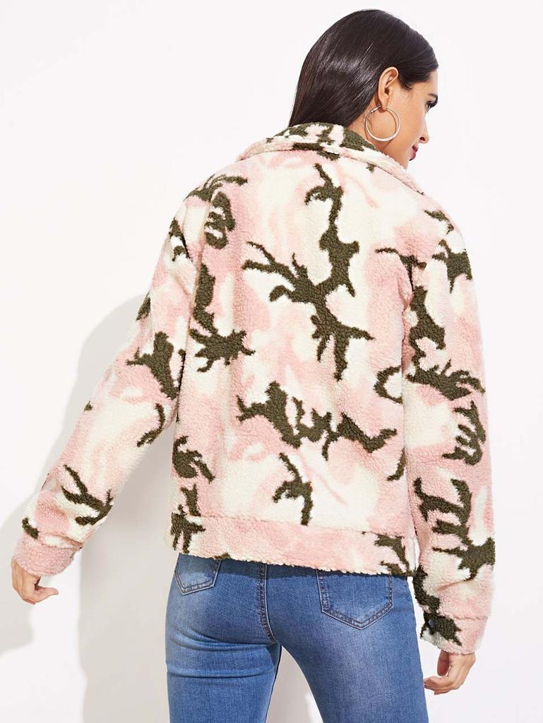 Leopard Pattern Teddy Jacket