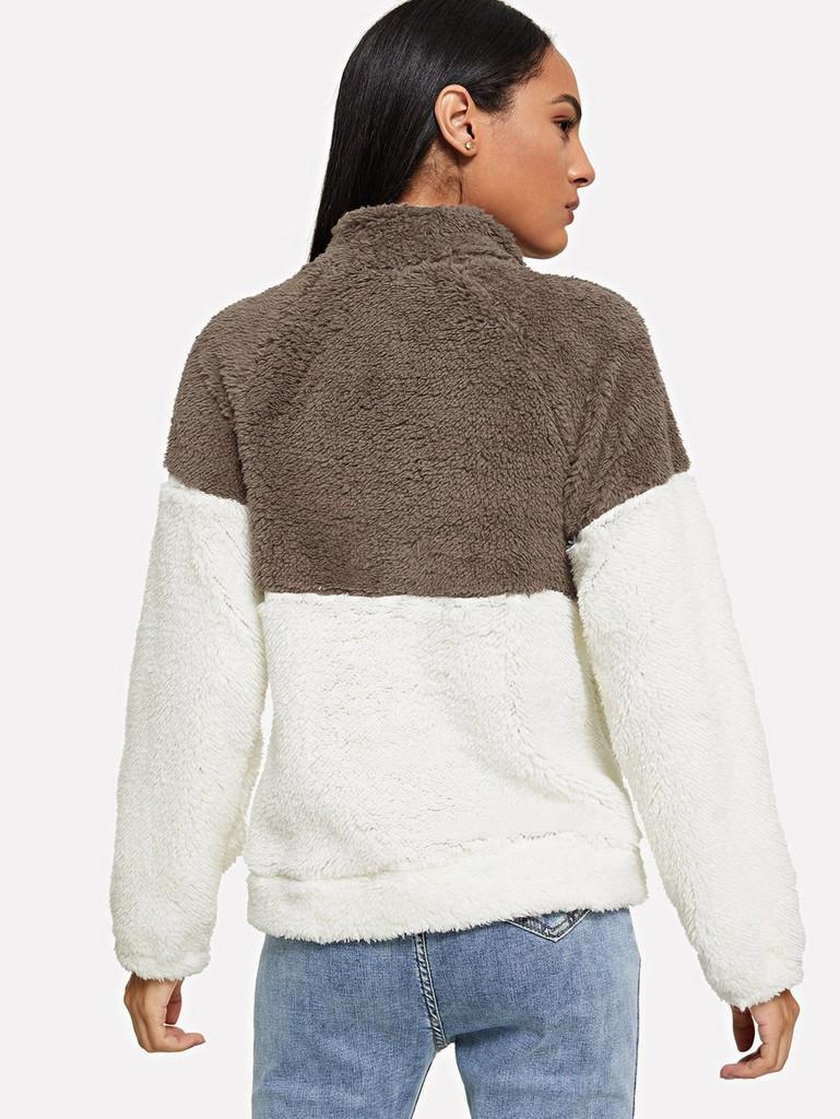 Drop Shoulder Quarter Zip Sweatshirt