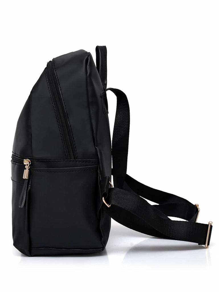 Metail Detail Backpack With Clutch