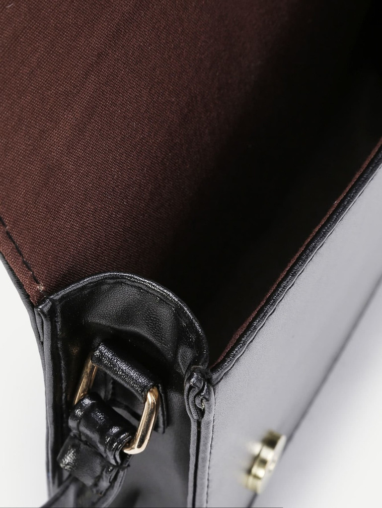 Chevron Design PU Crossbody Bag