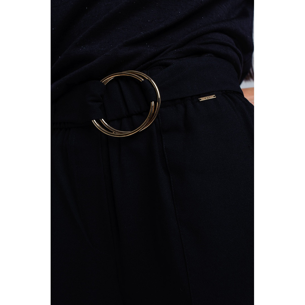 Black pants with buckles