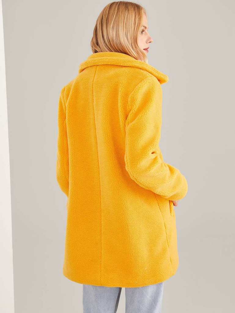 Pocket Front Fleece Teddy Coat