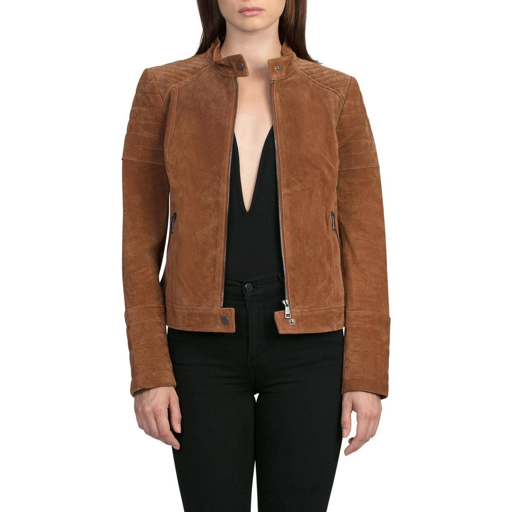 Suede Quilted Moto