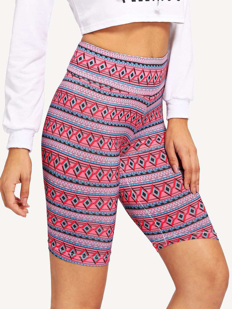 Allover Print Cycling Shorts