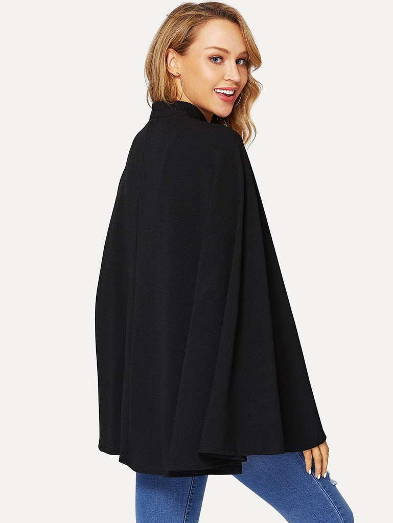 Double Breasted Round Neck Coat