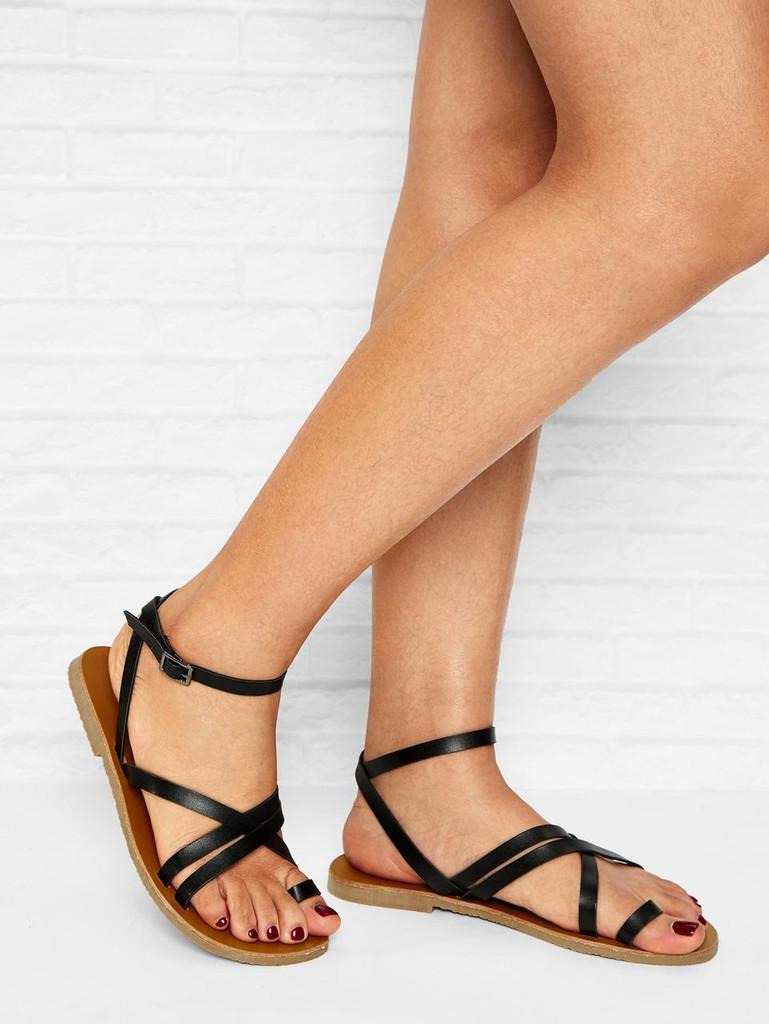 Criss Cross Flat Sandals