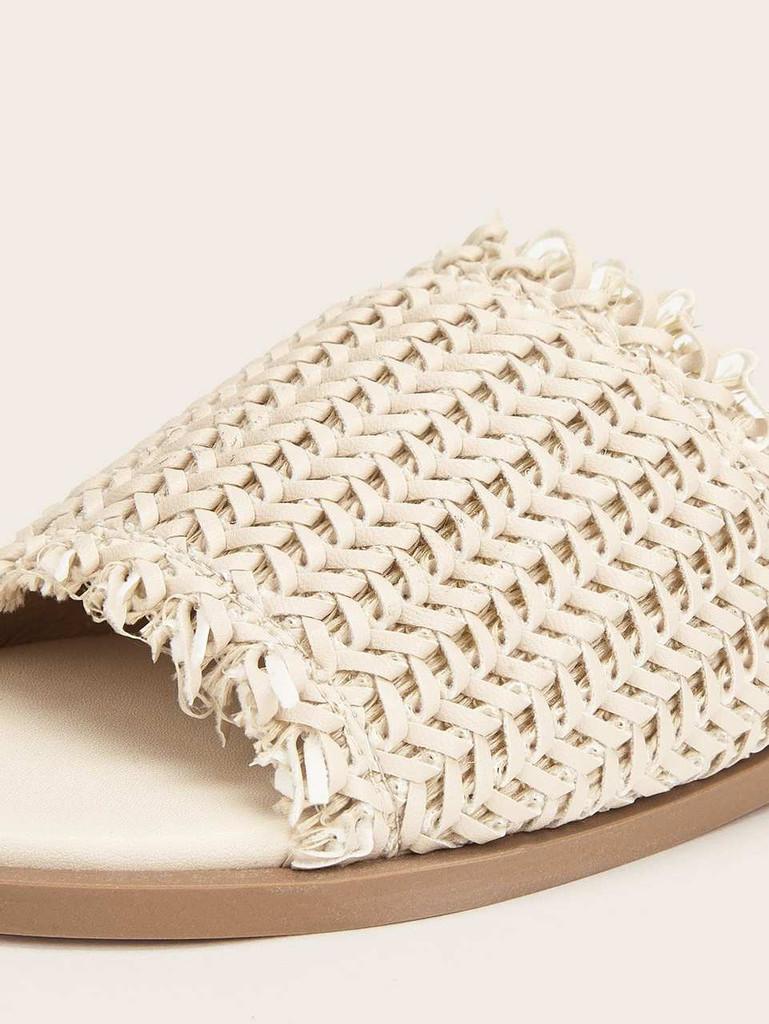 Plaited Flat Slippers