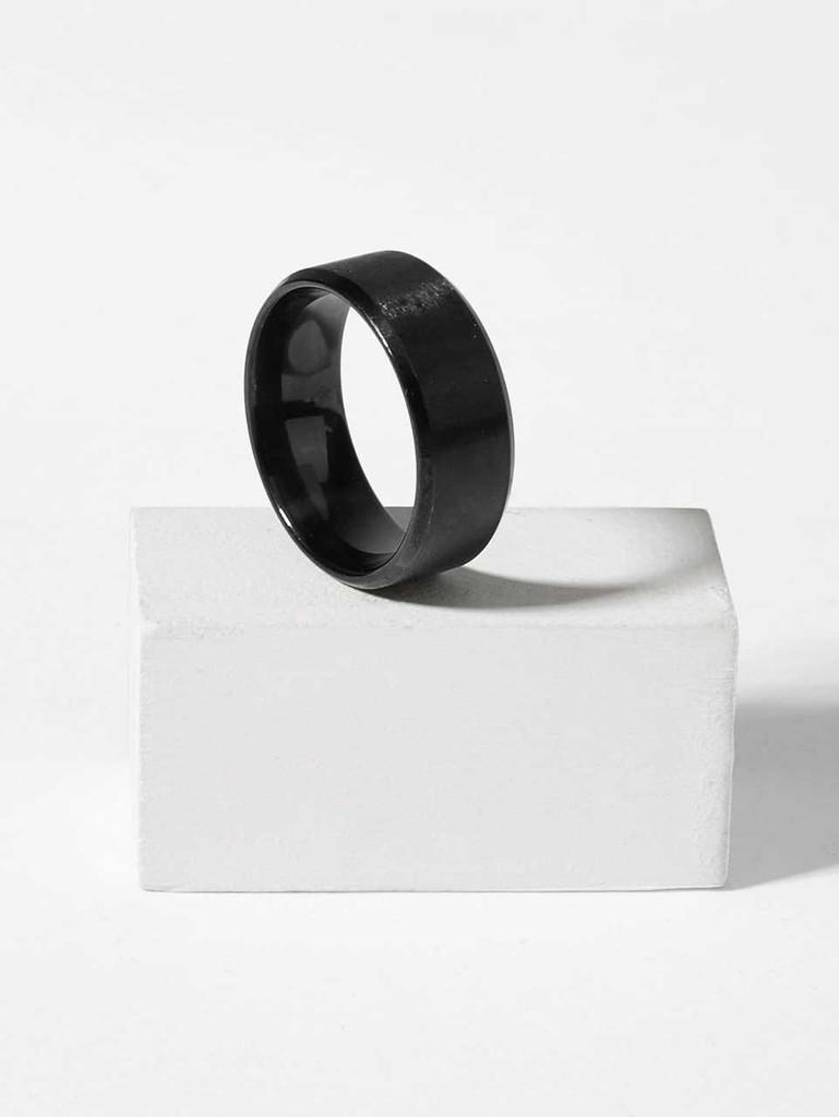 Men Plain Metal Ring