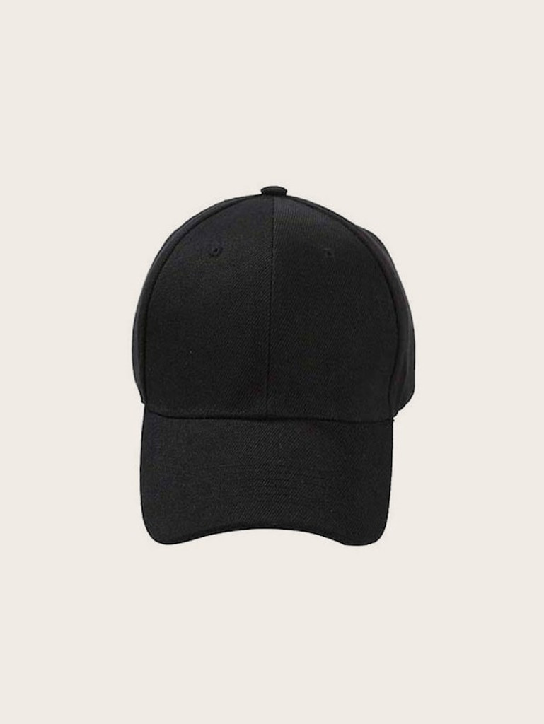 Men Plain Baseball Cap - Black