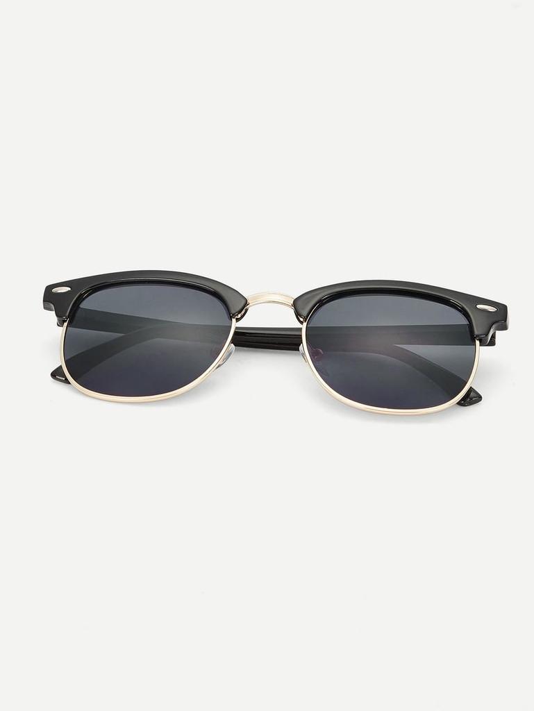Men Browline Frame Sunglasses - ONE SIZE