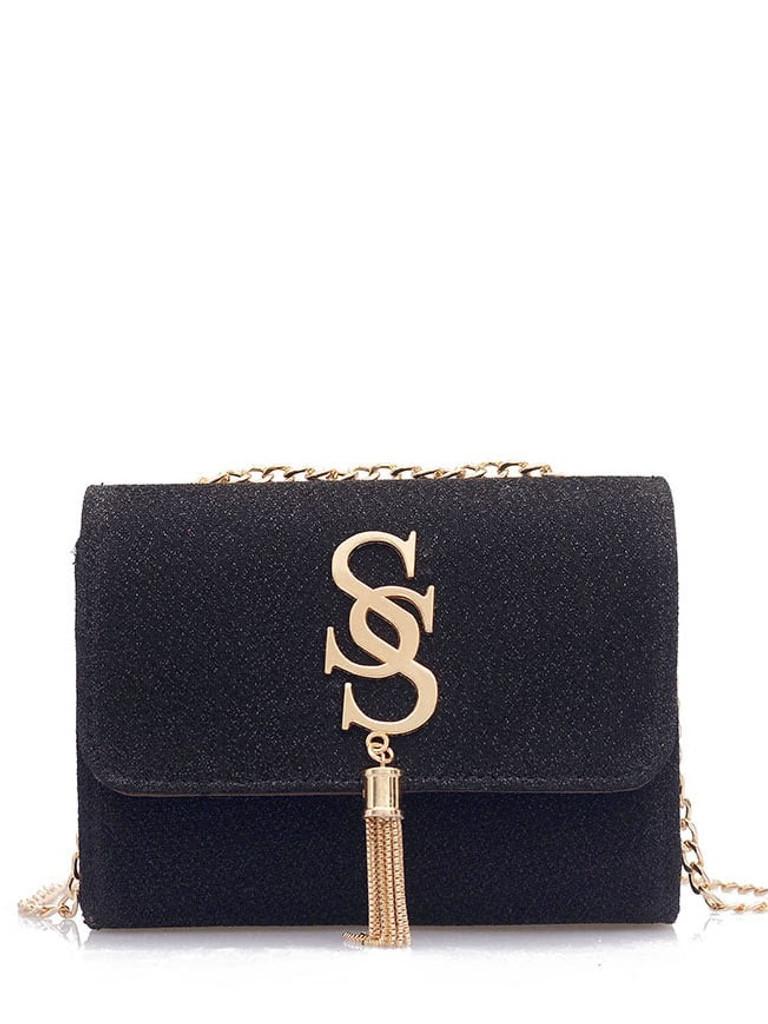 Tassel Detail Chain Crossbody Bag